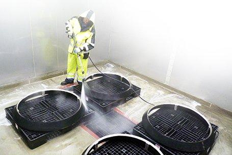 Metal Pretreatment wash booth of spraying